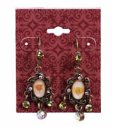 300 Red Pierced Earring Clip On Cards 2 X 2 1/2 Card Hanging Lip Brick