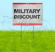 Military Discount 18x24 Yard Sign Corrugated Plastic Bandit Lawn Business Valor