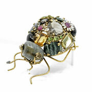 Candd Jewelry Vintage Costume Large Ant Insect Bug Gem Brooch Pin Iradj Moini