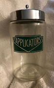 Antique Apothecary Glass Jar 1940s Art Deco Kalon By Profex Usa Stainless Lid