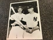 1950s The News Stamp Mickey Mantle And Joe Dimaggio Vintage Photo