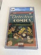 Detective Comics 59 Cgc 5.0 - 2nd Appearance Of Penguin - Golden Age 1 / 1942
