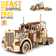Wooden Toys 3d Puzzle Mechanical Ugears Semi Truck Holiday Gift For Boys Girls