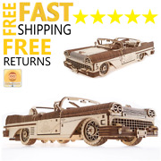 Wooden Toys 3d Puzzle Mechanical Ugears Cabriolet Car Holiday Gift For Boy Girl