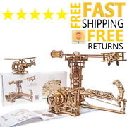 Wooden Toys 3d Puzzle Mechanical Ugears Aviator Holiday Gift For Boys Girls New