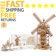 Wooden Toys 3d Puzzle Mechanical Ugears Tower Windmill Holiday Gift For Boy Girl