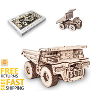 Wooden Toys 3d Puzzle Mechanical Ugears Dump Truck Holiday Gift For Boys Girls
