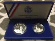 1986 Liberty Clad Proof 1/2 Dollar And Silver Proof Dollar Set