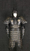 Chinese Handmade Leather Helmet And Armor General Warrior Cloth Lion Zhangfei