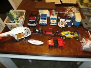 Huge Mixed Lot Vintage Playmobil Toy People Figures Accessories Vehicles Etc.