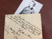 George Francis Train Quote Signed Am. Businessman, Pres. Candidate, Women's Suff