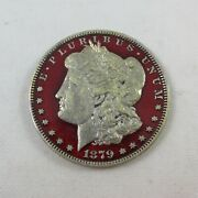 1879-o Colorized Morgan Silver Dollar - Great Detail On Both Sides