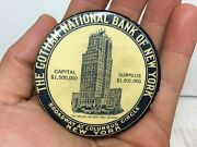 Antique Gotham National Bank Of New York Advertising Celluloid 5 10c Dime Bank