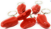 Tupperware Forget Me Not Chili Pepper Keychains X 5 Opens Pills Change Red New