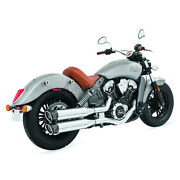 Freedom Performance Chrome/black 4 In. Racing Slip-on - In00066 No Ship To Ca