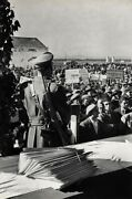1950 Henri -bresson Italy Metaponte Land Deed Officer Peasants Photo Art