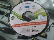 Manhattan 391504 Flat High-speed Hdmir Cable With Ethernet 15ft R-ici391504