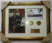 Framed Stamp Cover And Coin William And Kate - The Royal Union 2011
