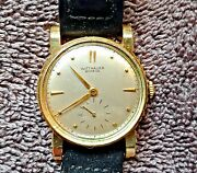 Working Wittnauer- 1950and039s- 14k Yellow Gold- 17 Jewels - Menand039s Dress Watch
