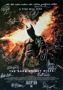 The Dark Knight Rises Movie Poster Signed By 16 Cast Members Excellent Replica