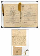 1912-1913--ww1 And Ww2 Letters,dance Card,wedding Invite,postcards,stamps