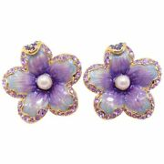 Jay Strongwater Andldquospring Blossomandrdquo Enamel Crystal And Simulated Pearl Earrings