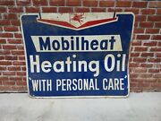 Vintage Pegasus Mobil Mobilheat Heating Gas Oil Sign 5and039x4and039