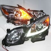 For Lexus Gs300 Gs350 Gs430 Gs450 Led Head Lamps Lights 2006 To 2011 Year Silver