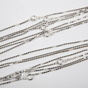 Real 925 Sterling Silver 1.5mm Thick Box 028 Chain Necklaces Lots 18, 20, 24