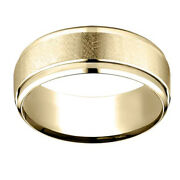 18k Yellow Gold 7.00 Mm Comfort-fit Menand039s Wedding Band Ring Sz-12