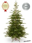 7.5 Ft Christmas Artificial Tree Realistic Norwegian Spruce Green Holiday Xmas