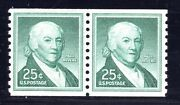 U.s. Stamp 1059a — 25c Paul Revere Coil Pair - Xf - Mint - Graded 90