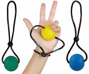 Secure Stress Ball On A String - For Stress Relief Hand Exercise Strengthenin...