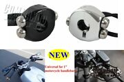 1 Handlebar 3 Push-buttons Controls Switches On/off M-switch For Harley Bobber