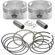 S And S Cycle Forged Piston Sets Forged Piston Set 106-5554