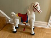 Vintage Antique Mobo Bronco Riding Horse Pressed Tin Made In England