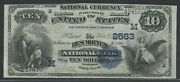 10 1882 Ch 2583 Date Back Des Moines, Iowa National Bank Choice Xf+ Wlm9169