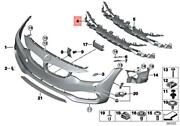Genuine Bmw F32 F33 F36 418d 418i 420d Insert Air Inlet Middle 51117294657