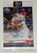 Pete Alonso Signed 1st Career Hr 444' Blast To Cap Win Topps Now 2019 Card 61/99