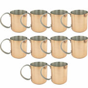 Set Of 10 Copper Moscow Mule Mug Stainless Steel Lining Copper Mule Mugs