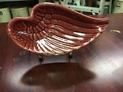 Red Wing Art Pottery Ashtray-bottom Marked Also W/usa