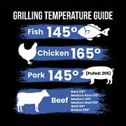 Meat Internal Temperature Guide Magnet 9 X 9 Inches Outdoor Quality Grilli...