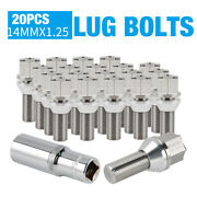 20pcs Fit Bmw F30 328i 2010-2020 M141.25 Thread Forged Stainless Steel Lug Bolt