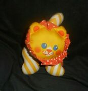 Vintage 1990 Fisher Price Lion 1336 Zoo Grabbers Rattle Stuffed Animal Plush Toy