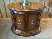 Drexel Heritage Montella Oval End Table With Storage