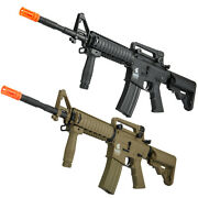 Lancer Tactical Gen2 Sopmod M4 Ris Aeg Airsoft Rifle W/ Battery And Charger Lt-04