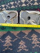2 Antique Primitive Soldered Tin Cookie Cutters Rare Eagle And Lion