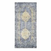 3and0392x9and03910 Graygold Wool And Pure Silk Runner Hand Knotted Oriental Rug G47802