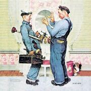 Norman Rockwell Famous Artwork Cleaning Cloth Andquotplumbersandquot