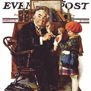 Norman Rockwell Famous Artwork Cleaning Cloth Doctoranddoll Saturday Evening Post